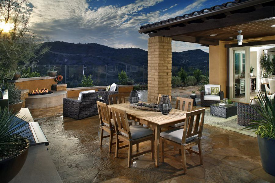 Avocet Plan 3 Patio mountain view