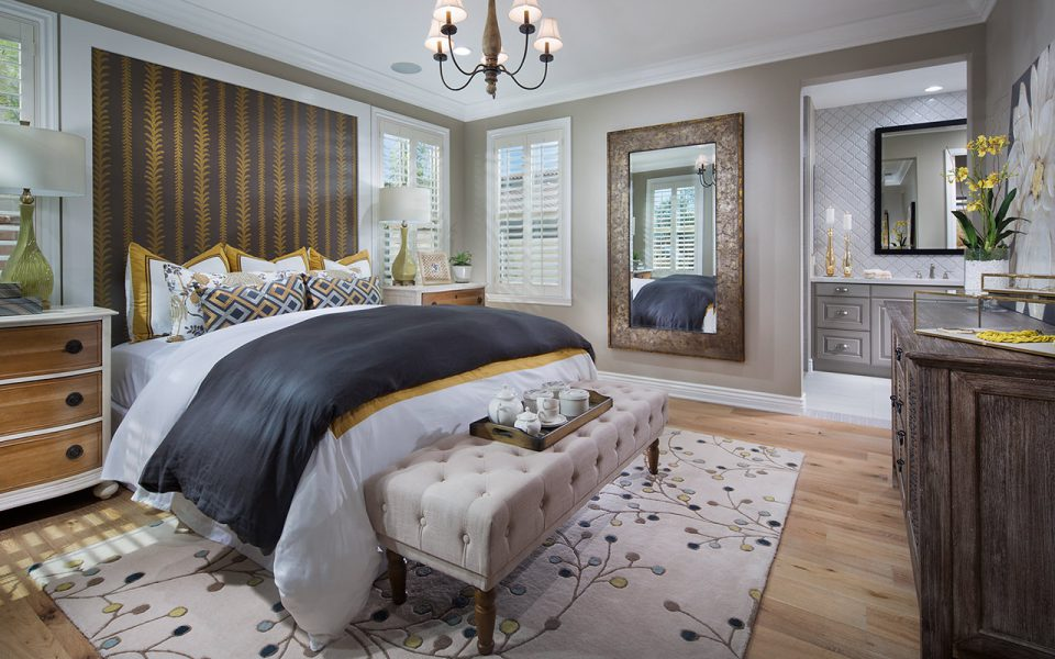 Cortesa master bedroom in model home