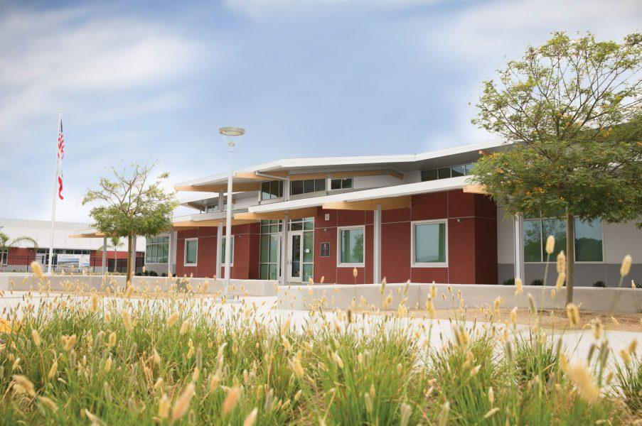 Front exterior of Esencia School